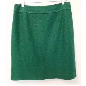 BANANA REPUBLIC Evergreen Wool Blend Pencil Skirt